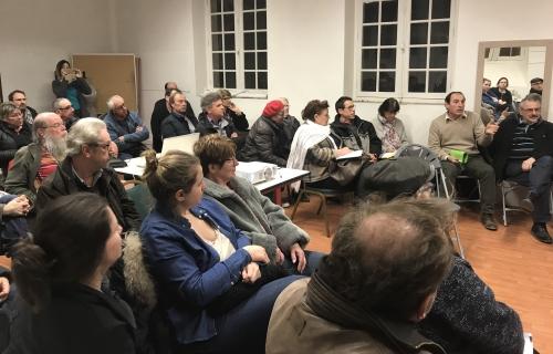 Nous avons réunis une quarantaine de personnes dont le maire la CC2V.